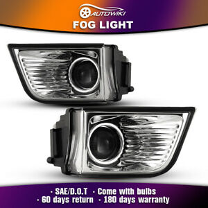 For 2003 2005 Toyota 4runner Fog Lights Pair Clear Lens Projector Driving Lamps