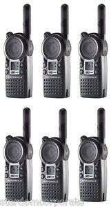 Motorola Cls1410 Uhf Two Way Radios 1 Watt 4 Channel With Single Chargers Qty 6