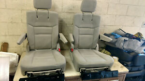 2011 2019 Dodge Grand Caravan Stow N Go Second Row Bucket Seats Gray Cloth