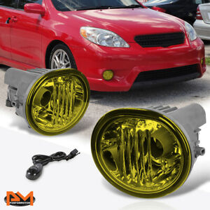 For 05 10 Scion Tc matrix Amber Lens Front Bumper Driving Fog Light lamp switch