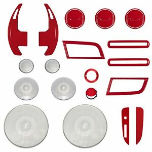 25pcs Red Set Interior Accessories Decoration For Ford Mustang 2015 2019