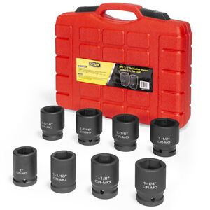 3 4 Dr Shallow Deep Impact Sockets Set Socket Tool With Carrying Case 9pc