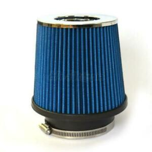 3 Inch Chrome Inlet Short Ram Cold Air Intake Round Cone Air Filter Blue Us