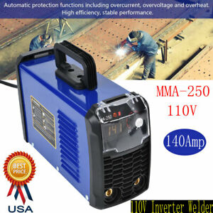 140 Amp Dc Inverter Portable Digital Stick Welder 110v Welding Machine Mma 250
