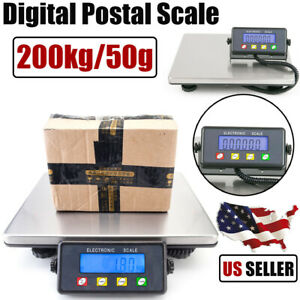 200kg 50g Digital Shipping Platform Postal Scale Electronic Weight Postage Usa