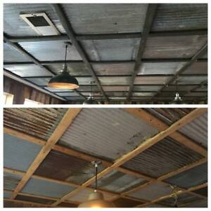40 Sq Ft Drop Ceiling Tiles Reclaimed Corrugated Barn Roofing 10pc 2 X 2
