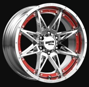 17 Inch Chrome Wheels Rims Chevy 2500 3500 Dodge Ram Truck 8 Lug Moto Metal 17x9
