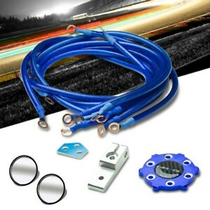 Nrg Innovations Gk 100bl Blue 6 point Ground Wire System Cable Kit 2 Mirror