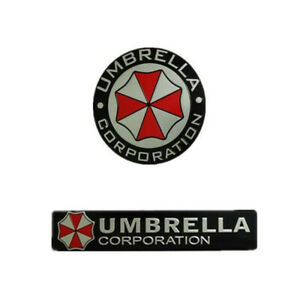Metal 3d Resident Evil Umbrella Corporation Car Sticker Auto Badge Emblem Decal