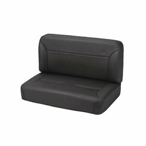 Bestop Seat Trailmax Ii Classic Rear Bench Fixed Vinyl Black Fits Jeep Each