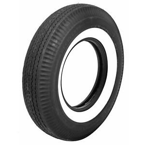 Pair 2 Coker Firestone Wide Oval Tires 750 14 Bias ply Whitewall 517810