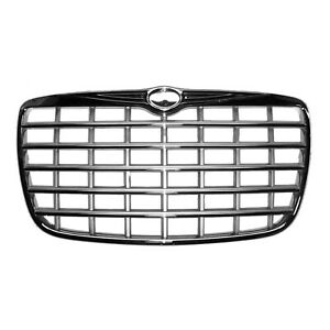 Chrome Grill Assembly For 2005 2010 Chrysler 300 Grille Ch1200276