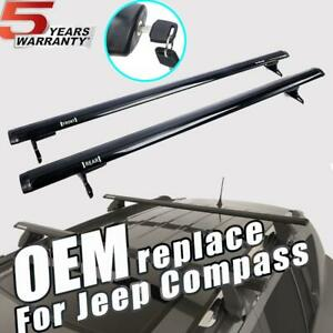 For 2016 2019 Jeep Compass Black Roof Rack Cross Bar Basket Carrier Oem Replace