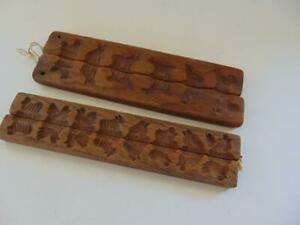 Primitive Wood Maple Sugar Candy Butter Molds Birds Animals