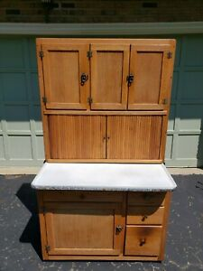 Antique Oak Hoosier Cabinet With Flour Sifter Great Condition