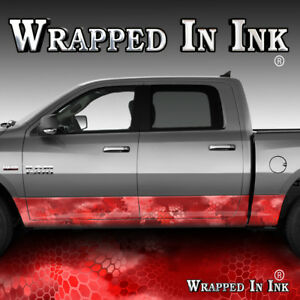 Rocker Wrap Red Chameleon Camo Red Camo Decal Wrap Truck Side Camouflage A57