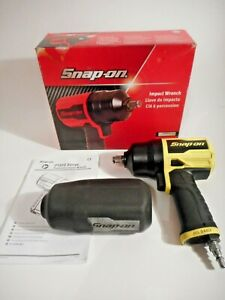 Snap On Pt850hv 1 2 Drive Impact Wrench W Cover Rare Yellow Fast Free Ship