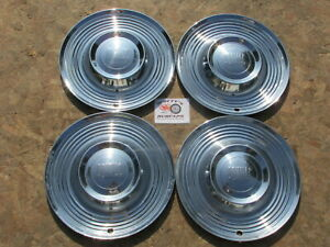1955 Pontiac Star Chief Chieftain Catalina 15 Wheel Covers Hubcaps Set Of 4