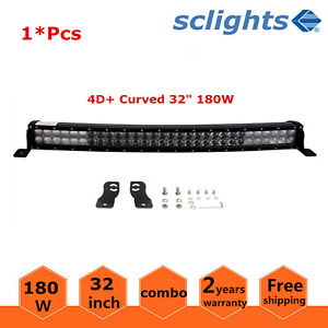 4d Curved 32inch 180w Led Light Bar Combo Beam Offroad Suv Boat Ford 4wd 30 33