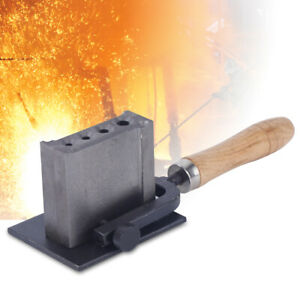 Cast Iron Ingot Mould Silver Metal Steel Groove Mold 4 Holes Jewelry Making Tool