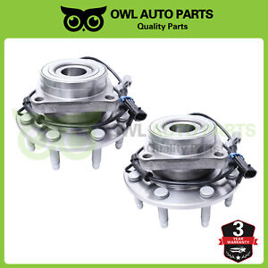 Pair Chevy Silverado 2500 Hd Gmc Sierra Front Wheel Bearing Hub 8lug 4x4 515058
