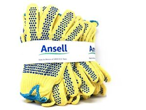 12 Pack Ansell Goldknit 70 330 Pvc Gloves Cut Resistant Liner