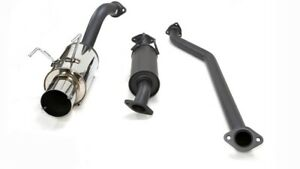 Hks Hi power Exhaust Coated Ss Piping Includes Silencer For Civic Si 02 05 K20a3