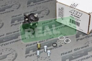 Aem Fuel Pressure Regulator Acura Honda Offset Flange With 90 Degree Return