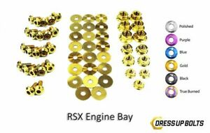 Dress Up Bolts For Acura Rsx Rsx Type S 2002 2006 Titanium Engine Bay Kit Gold