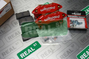 Wilwood Forged Dpha Front Brake Caliper Kit Red Civic 90 00 Si 06 12 140 13029 r