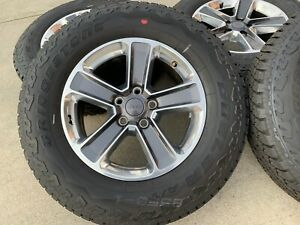 Brand New Set Of 5 Jeep Wrangler Jl 18 Inch factory Wheels and Tires 2018 19