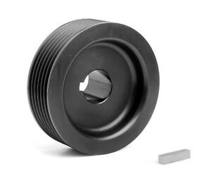 Weiand Pulley Supercharger Serpentine Aluminum Black Weiand 142 177 Ea