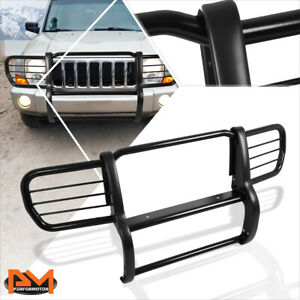For 06 10 Jeep Commander Xk Suv Bumper Brush Grill Guard Protector Coated Black