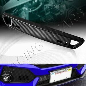 Universal Carbon Style Front Bumper License Plate Mount Bracket Relocator
