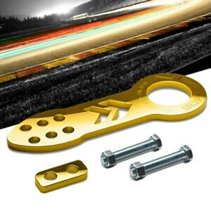 Nrg Innovations Gold Tow 100gd Front Logo Universal Aluminum Hitch Tow Hook Kit