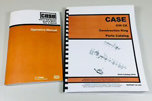 Case 530 Draft O Matic Tractor Operators Owners Manual Parts Catalog Set