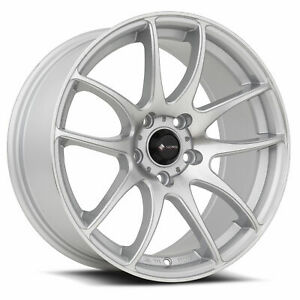 Vors Tr4 18x8 5 18x9 5 5x112 35 35 Silver Machined Wheels 4 18 Inch Staggered