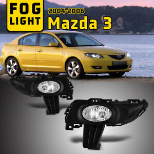 Fits 04 06 Mazda 3 Fog Lights Clear Assembly Lamps 1pair With Wiring Kit Switch
