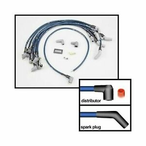 Moroso Spark Plug Wires Ultra 40 Spiral Core 8 65mm 45 Degree Boots 73676