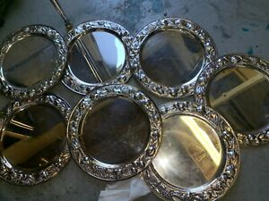 Lot Of 7 Silver Plate Trays 12 3 4 Inches Perfect For Catering