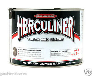 Herculiner Polyuerthane Protective Coating For Pick Up Truck Beds 1 Qt Black