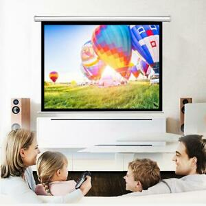 100 Hd Projector Screen 4 3 Projection Home Conference Classroom Pull Down