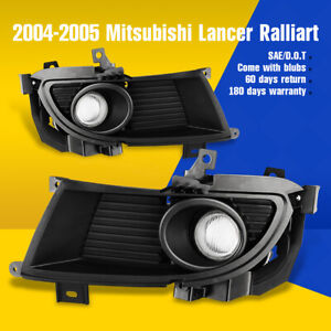Fits 04 05 Mitsubishi Lancer Fog Lights Clear Driving Lamps Switch Wiring Kit