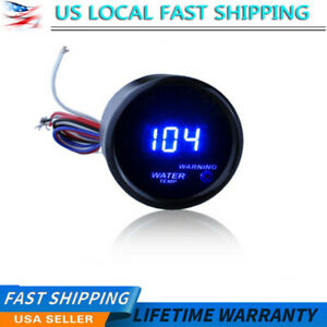 Black 2 52mm Digital Led Fahrenheit Water Temp Temperature Gauge At 300f Ar