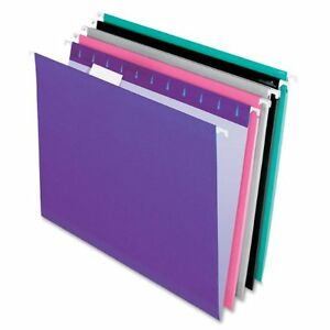 Pendaflex Color Hanging Folder With Infopocket Letter 8 50 X 11 1 5 Tab