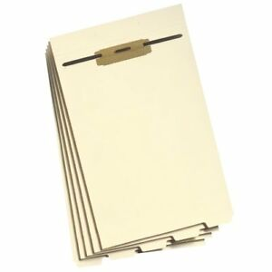 Smead 35650 Manila Folder Dividers With Fastener Legal 8 50 X 14 0 50