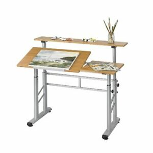 Safco Height Adjustable Split Level Drafting Table Rectangle 47 25 X 29 75