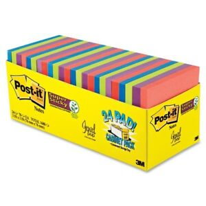 Post it Super Sticky 24 Pad Cabinet Pack Self adhesive Repositionable 3 X