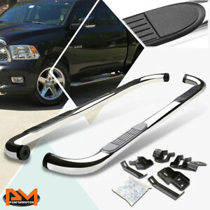 For 09 15 Dodge Ram 1500 3500 Crew Cab 3 Side Step Nerf Bar Running Board Chrome