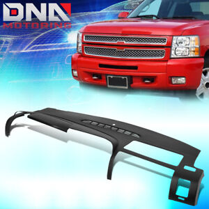 For 2007 2013 Sierra Silverado Abs Full Dash Board Defrost Vent Cover Overlay